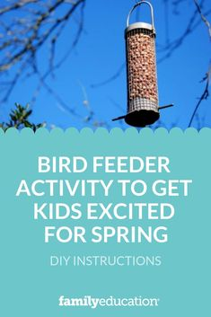 In this nature activity, children learn what objects they can put in a tree to attract feeding birds. Nature Activities, Spring Activities, Educational Activities, Activities For Kids, Feeding Birds, School Daze, Diy Craft Projects, Crafts, Bird Houses