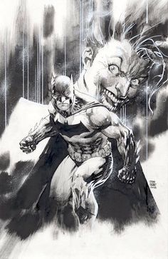 "redskullsmadhouse: "" Batman and Joker by Jim Lee ""                                                                                                                                                                                 More"