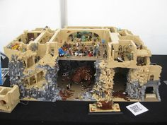 LEGO Jabba's Palace with rancor pit, full detail.