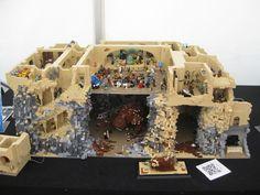 Custom built Jabba's palace. #LEGO #starwars