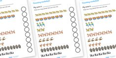 Twinkl Resources >> My Counting Worksheet (Jungle and Rainforest)  >> Thousands of printable primary teaching resources for EYFS, KS1, KS2 and beyond! home school, education, free resources, free worksheets, printable,