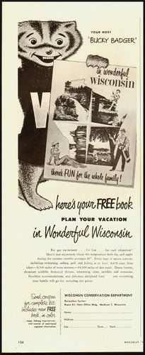 Advertising: 1953 Vintage Ad for Wisconsin Conservation Department Travel #Wisconsin #advertising #vintage
