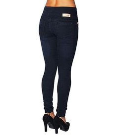 Another great find on #zulily! Dark Blue Anna Pull-On Skinny Jeans - Women & Plus #zulilyfinds