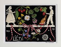 My Favorite Part, My Favorite Things, Alsace France, Summer Solstice, Lorraine, Scandinavian Style, Arts, Folk Art, Cross Stitch