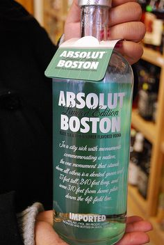 Boston: we don't drink, but I might need to buy this for this bottle (and pour the vodka down the drain!)