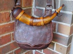 Jerry Rice Hunting Pouch with Edwin McDilda Powder Horn