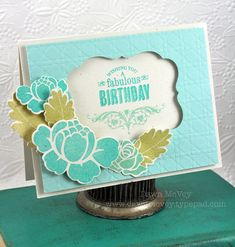 Stamper's First Aid - Fabulous Birthday Card by Dawn McVey for Papertrey Ink (July 2012)