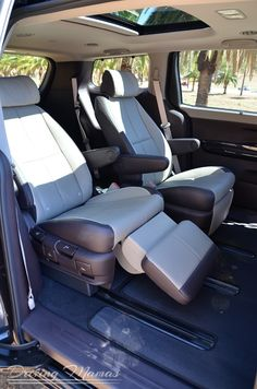 Car Reviews – Swanky! Love the new design of the 2015 Kia Sedona Multi-Purpose Vehicle (not a minivan). The sweet lounge captain's seats make for a cushy ride on family road trips for the kids.