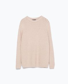 CABLE KNIT SWEATER - Knitwear - WOMAN | ZARA United States