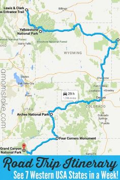 7 western states road trip itinerary