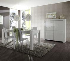Table de salle à manger design laquée blanche Twist - Table à manger design - Table de salle à manger - SALLE A MANGER