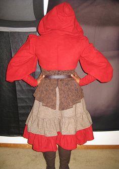 Steampunk Red Ridinghood (back)