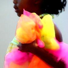 African American Art-Little Girl-Color