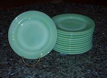 Fire King Jadeite Restaurant Ware Salad Plates