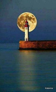 I just love the water and lighthouses  and full moons only when I don't have to work (health care life)