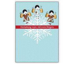 Niedliche Einladungskarte mit 3 Engeln: Einladung zum Advents-Singen - http://www.1agrusskarten.de/shop/niedliche-weihnachts-einladungskarte-mit-3-engeln-und-schneeflocke-einladung-zum-advents-singen/    00000_1_2423, Grusskarte, Klappkarte Rentier, Santa Sterne, Schneemann, Tanne, Weihnachtsbaum Engel, Weihnachtsmann, Winter00000_1_2423, Grusskarte, Klappkarte Rentier, Santa Sterne, Schneemann, Tanne, Weihnachtsbaum Engel, Weihnachtsmann, Winter