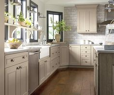 Best Taupe Kitchen Cabinets Taupe Kitchen Cabinets Decora Cabinetry in Home Interior Design Reference Taupe Kitchen Cabinets, Kitchen Cabinets Color Combination, Kitchen Cabinet Colors, Painting Kitchen Cabinets, Oak Cabinets, Best Paint For Kitchen, Kitchen Paint, Kitchen Redo, Kitchen Remodel