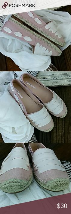 Enzo Angiolini espadrilles Beautiful baby pink with cream colored ribbons. Great condition. Never worn. Enzo Angiolini Shoes Espadrilles