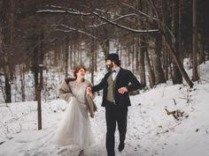 Wenn Nostalgie auf Natürlichkeit trifft: Inspirationen für ein winterliches Hochzeitsmärchen
