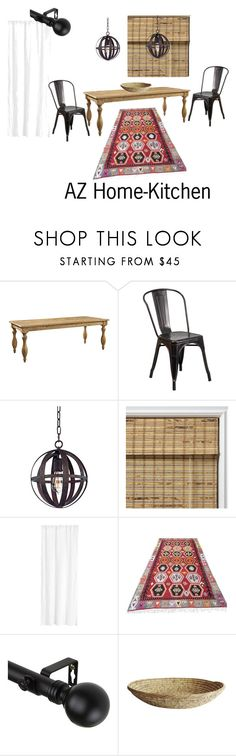 """AZ Home-Kitchen"" by nataliehelms on Polyvore featuring interior, interiors, interior design, home, home decor, interior decorating, Flash Furniture, Troy, Arlo Blinds and H&M"