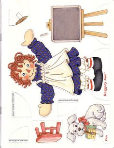 Raggedy Ann & Andy by Peck -Aubry - DollsDoOldDays - Picasa free paper dolls for Christmas at artist Arielle Gabriels The International Paper Doll Society and also free Asian paper dolls at The China Adventures of Arielle Gabriel * Paper Toys, Paper Crafts, Burlap Crafts, Paper Art, Paper Doll House, Ann Doll, Raggedy Ann And Andy, Vintage Paper Dolls, Barbie
