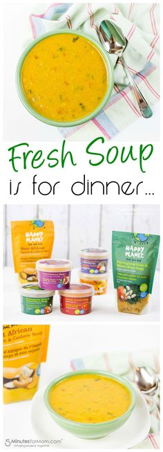 Fresh Soup for Dinner - a fast, healthy dinner solution. Sponsored.