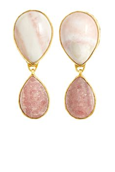 Pink Agate Drop Earrings | Calypso St. Barth