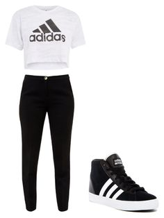 """""""casual day 10"""" by nananan925 on Polyvore featuring Ted Baker, Topshop and adidas"""