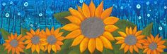 Moonlit Sunflowers - My Painted Path Sunflowers, Moonlight, Paths, Fall, Artist, Prints, Painting, Fall Season, Autumn