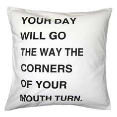 Direction of the Day Pillow | dotandbo.com Think I could make my own for less than $119??