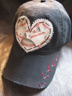 Baseball MOM Customized Crystal Vintage Baseball by BlingirlSpirit
