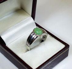 20 mm Ring Silber 925 Chrysopras elegant rar SR411 von Schmuckbaron