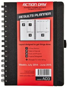 2014-2015 Academic Weekly Planner - 6x8 spiral - Layout Designed to Get Things Done - (Student Planner (+) Teachers Planner (+) Daily Calend...