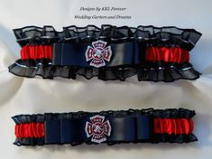 Hey, I found this really awesome Etsy listing at https://www.etsy.com/listing/185682926/firefighter-wedding-garter-set-crystal