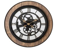 Pacific Bay Bornheim Large Decorative Light-Weight 20-inch Wall Clock Silent, Non-Ticking, 3-D Aluminum Dial, Easy-to-Read Roman Numerals, Quartz Battery... Best Wall Clocks, Wall Clock Silent, Analog Alarm Clock, Wall Clock Online, White Lamp Shade, Touch Lamp, Clock Decor, Large Clock, Digital Wall