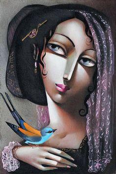 Woman Painting, Painting & Drawing, Art Parisien, Images D'art, Art Visage, Art Web, Paris Art, Art Et Illustration, Art Illustrations