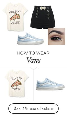 """i love"" by iuliba on Polyvore featuring Vans, women's clothing, women, female, woman, misses and juniors"
