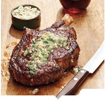 Cowboy Steaks with Smoked Shallot Butter