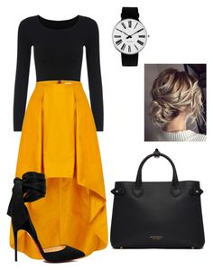 """Untitled #89"" by emily-dowalter on Polyvore featuring Christian Louboutin, Rosendahl and Burberry"