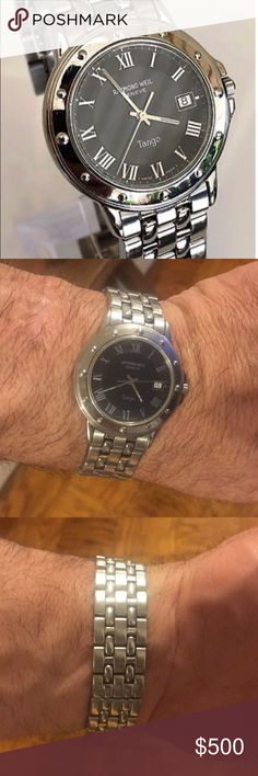 Men's Raymond Weil watch Raymond Weil Geneve Tango watch. The Tango stainless classic has a quartz movement, water resistant with a scratch resistant surface. Excellent condition. No scratches on the face and minimal signs of wear on the bracelet. Needs a new battery. Raymond Weil Accessories Watches