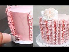 Buttercream Cake Decorating/Decorar con manga pastelera - YouTube