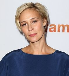 Liza Weil in Kimono-Inspired Two-Piece Outfit and Quirky Pollini Tassel Heels