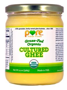 AmazonSmile : Grassfed Organic Ghee 7.8 Oz - Pure Indian Foods(R) Brand : Baking And Cooking Ghee : Grocery & Gourmet Food