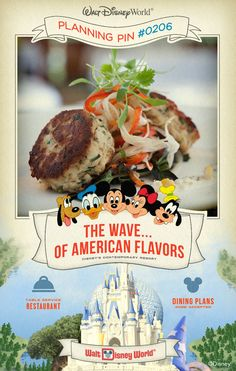 Walt Disney World Planning Pins: The Wave... of American Flavors