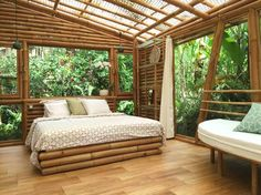 Slip into this eco bamboo home and fully immerse yourself in the natural ambiance of Bali. Booking this Hideout Lightroom, the second installment from the team behind Hideout Bali,will guarantee two things: the perfect nature lounge and. Bamboo House Bali, Bamboo House Design, Rest House, House In The Woods, Jungle House, Bamboo Structure, Bamboo Construction, Bamboo Architecture, Tropical Houses