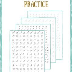 A collection of free resources for handwriting & lettering practice worksheets. Learn calligraphy through easy free worksheet printables!
