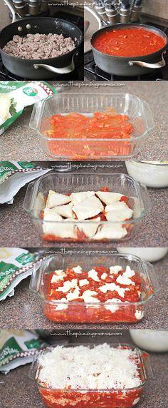 Ravioli Lasagna is so easy to make! Only 6 ingredients!