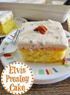 Elvis Presley Cake recipe from The Country Cook