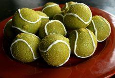 Tennis Ball Cake Balls