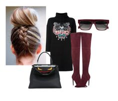 """""""casual"""" by aputrifebxx on Polyvore featuring Kenzo, Kendall + Kylie, Fendi and CÉLINE"""